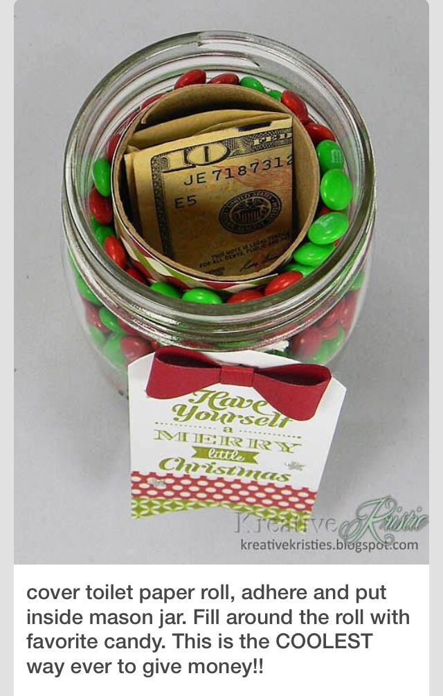 A cool way to give $ or a gift card.