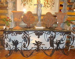 Antique Italian wrought iron credenza early 1900's