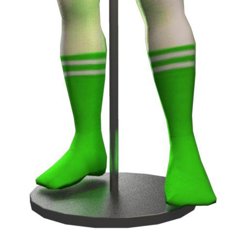 Retro Fitness Socks - Green