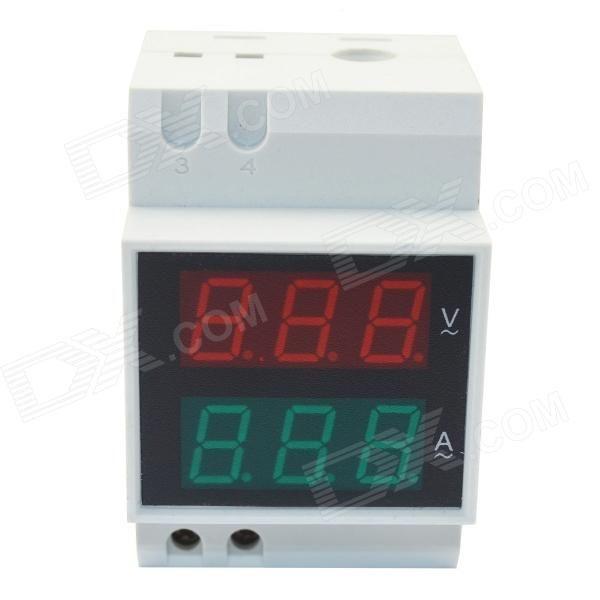 "0.5"" LED Air Switch Type / Guide Rail Type Digital Dual Display AC Voltmeter…"