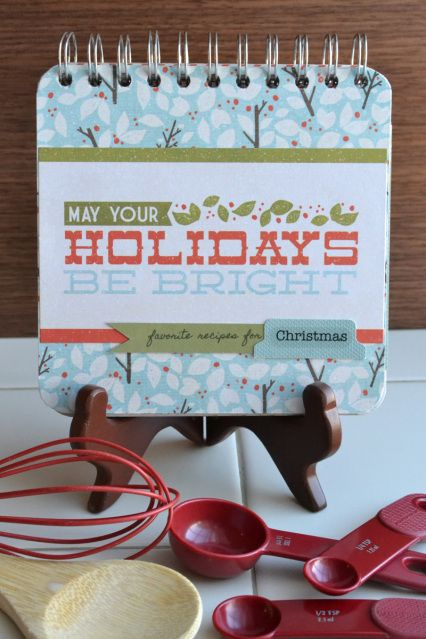 Gift Ideas: Recipe Cinch Book | We R Memory Keepers Blog #recipebook #cinch #holiday