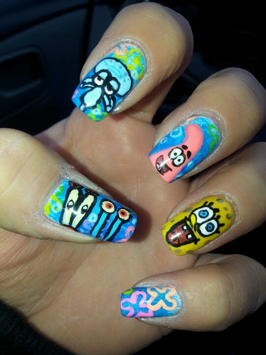 SpongeBob nails :)