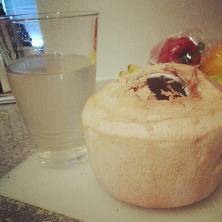 Post-Workout Drink: Fresh Coconut Water.