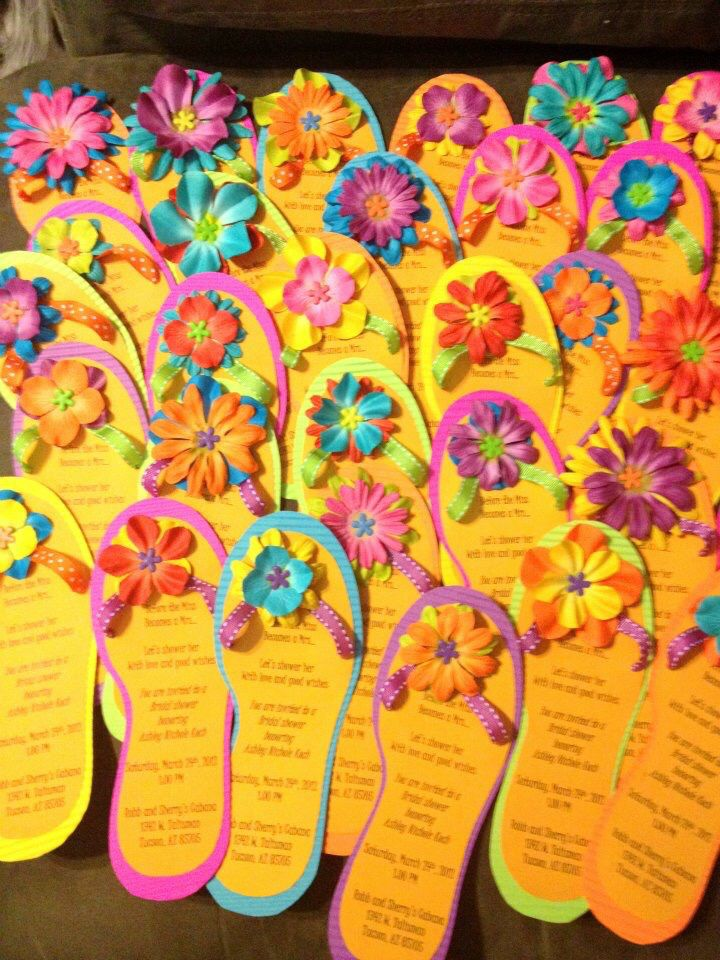 Flip Flop invitations- DIY
