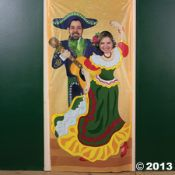 Fiesta Couple Photo Door Banner  Here is your photo op