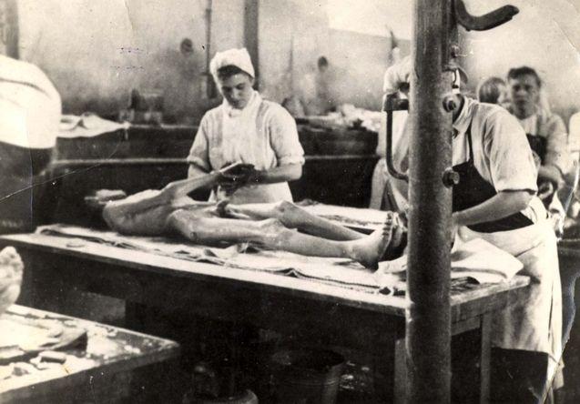 Bergen Belsen, Germany, 1945, British nurses treating death camp surviving inmates.
