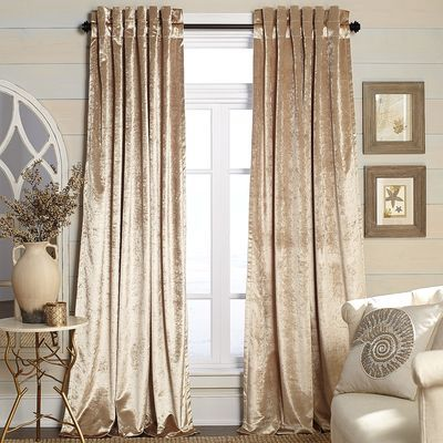 metallic velvet curtain champagne