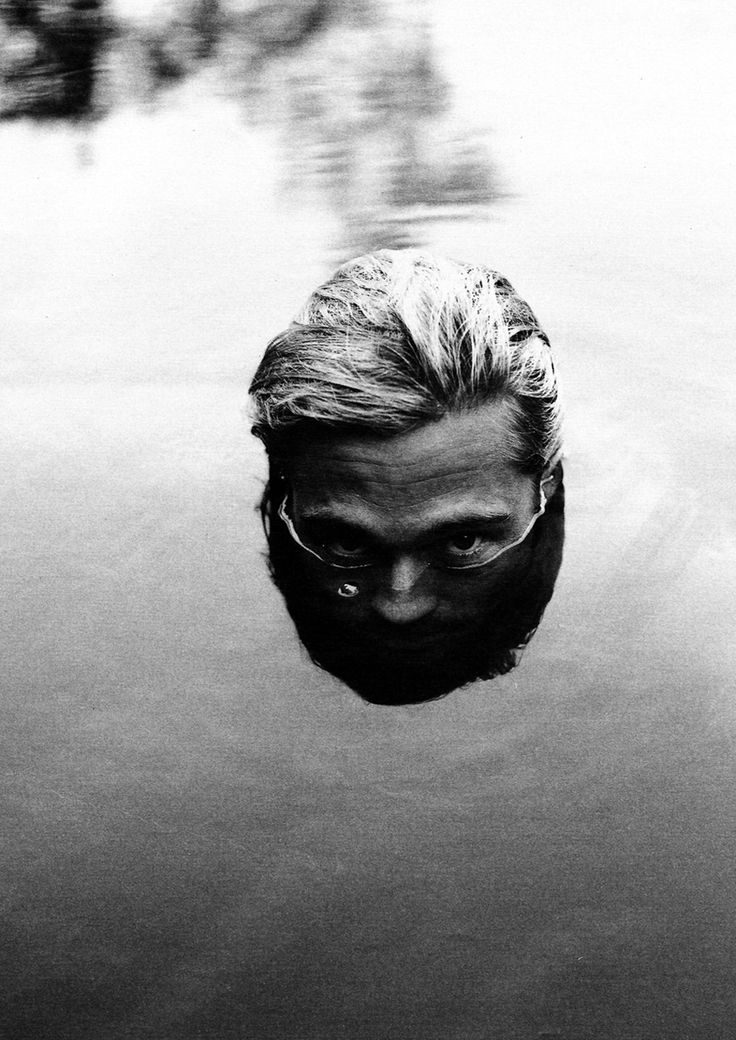 Brad Pitt by Peggy Sirota. - Peggy Sirota's exhibition GUESS WHO? is a tongue-in-cheek homage to the celebrity phenomenon that seems to be present everywhere. Sirota asked various celebrities, athletes and musicians to lend their image for an AIDS charity. The reader will be teased, challenged and surprised while looking at the photographs trying to figure out who's who. For Guess Who 172 personalities play along and actually let go of their celebrity identity.