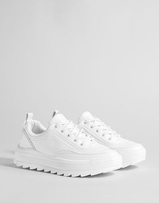 official photos fcde6 f16ec Deportivo plataforma blanco - Zapatillas - Bershka Colombia