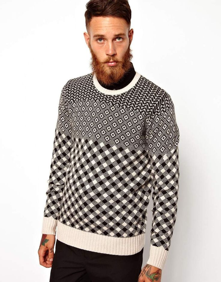 PS by Paul Smith | PS Paul Smith Sweater with All Over Pattern at ASOS. www.designerclothingfans.com