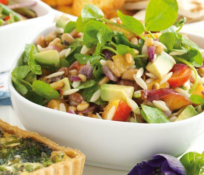 Pasta Mixed Bean and Pea Shoot Salad: Pasta Mixed, Scrumptious Delumptious, Salads Vegan, Vegan Recipes, Vegan Salads, Healthy Living