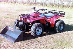 "FARM SHOW - ""Auto Dump"" Bucket For ATV's, Garden Tractors"