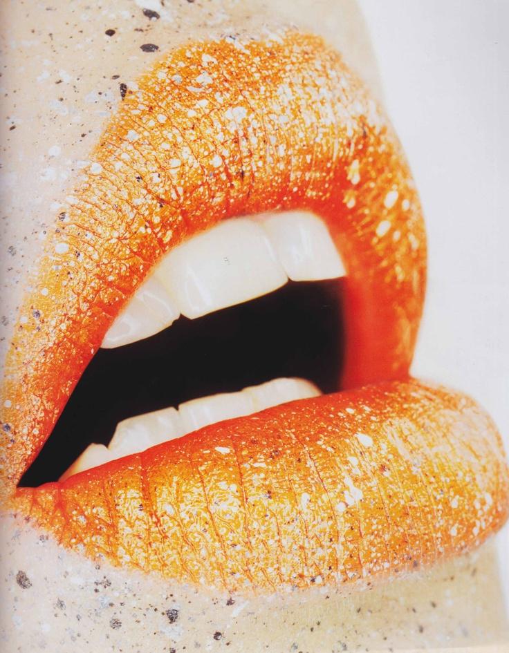 оранжевые губы картинки компания
