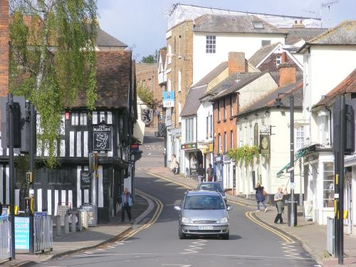 """""""Street scene Bishop Stortford, Hertfordshire"""" by Keith Knight the wireless waffler and photographer at PicturesofEngland.com"""