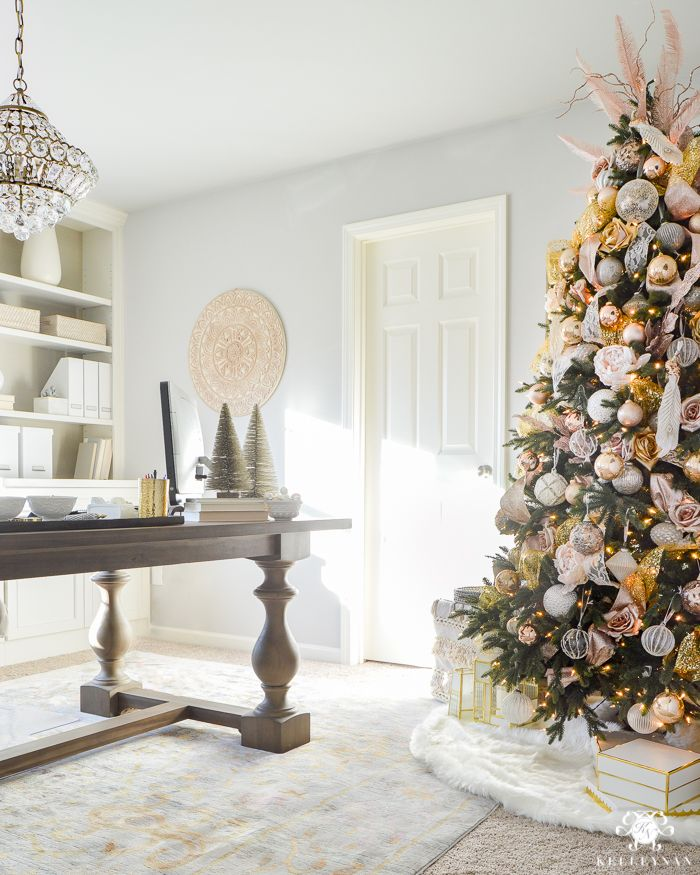 1000 images about christmas trees39 adorned on pinterest for Office christmas trees