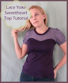 Lace Yoke Sweetheart Top Tutorial