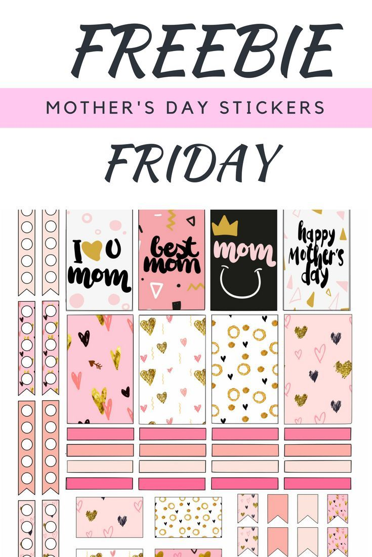 Free Printable Mother's Day Planner Stickers