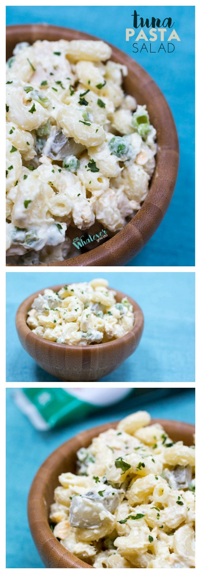 Get the taste of summer with this easy macaroni salad with tuna and dill. Great side dish for BBQs!