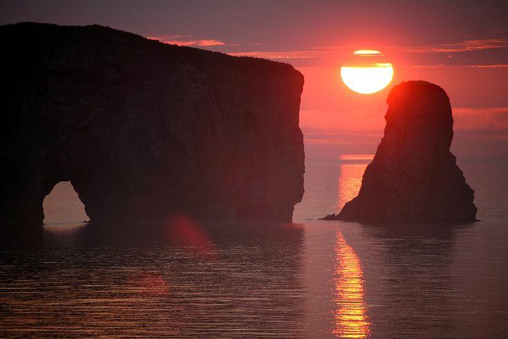 Soleil a Percé QC CANADA