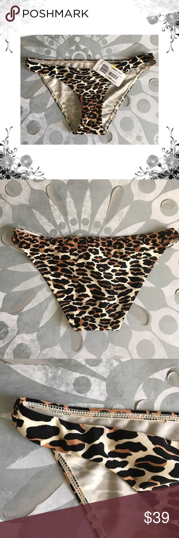 Zimmermann Animal Print Bikini Bottom Bottom only. Manufacturer Color is Leopard. Material is 80% Polyester/20% Elastane. Low-rise. Full seat coverage. Bundle for discounts! Thank you for shopping my closet! Zimmermann Swim Bikinis