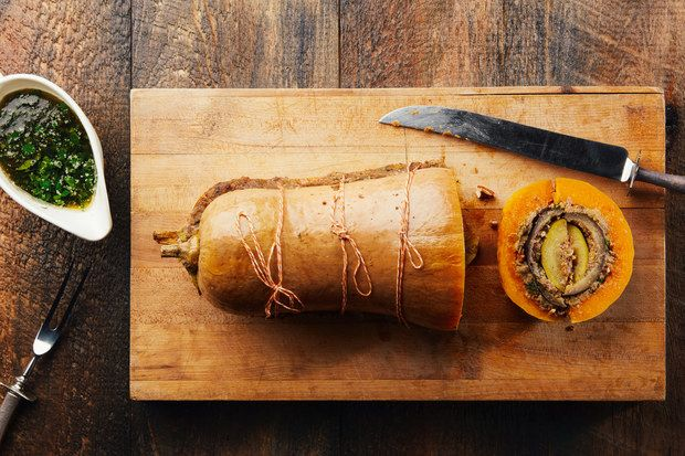 Vegducken Hero / Photo by Chelsea Kyle, Prop Styling by Alex Brannian, Food Styling by Michelle Gatton
