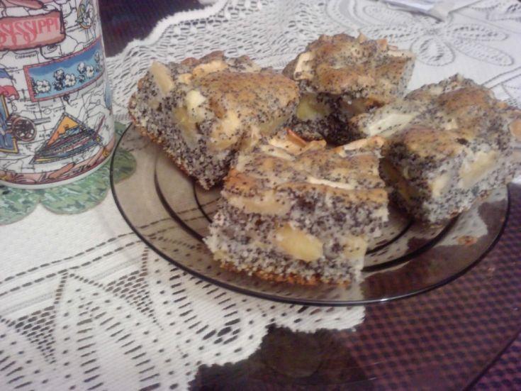 Fotorecept: Makovo-jablkový hrnčekový koláč