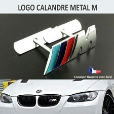 BMW M LOGO CALANDRE METAL EMBLEME FACE AVANT GRILLE BADGE E46 E60 E53 F30 E90 ..