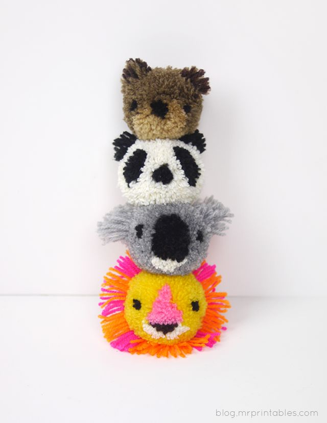 Have fun with pom-poms by turning them into animals with this easy tutorial.