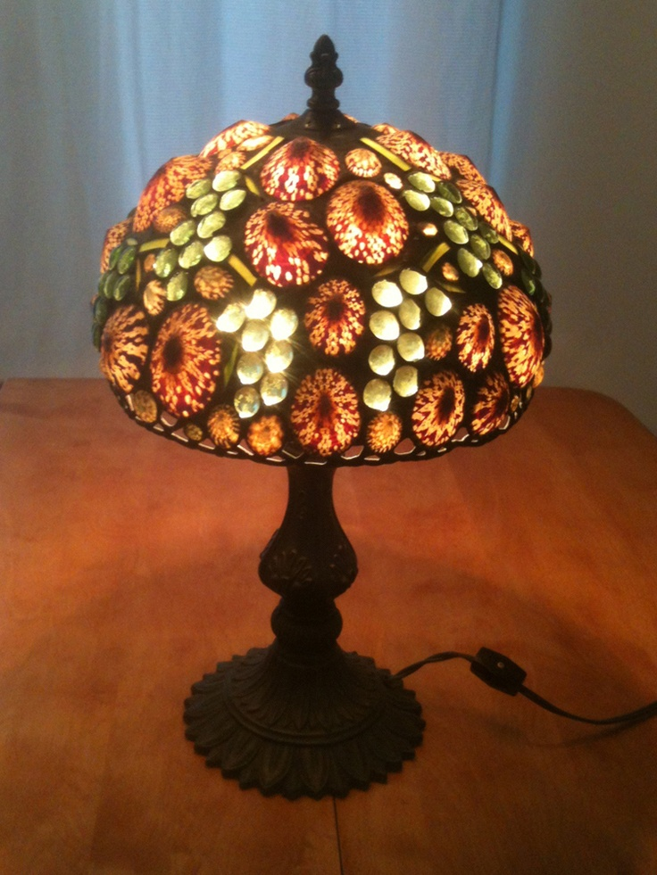 Richard Hoosin Glass Amp Limpet Shell Lamp Shade Amp Base