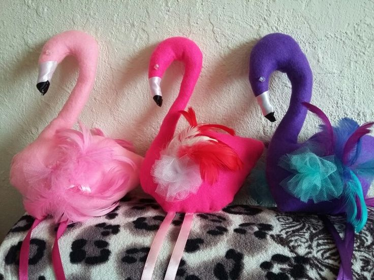 Flamingos made by 'Fascynatory Natalii' poland