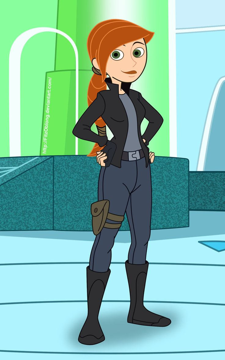 Kim possible is she in perry's secret agent hideout? (Phineas and Ferb)... If she is than that's awesome. They should do that, bring her back as a guest star on a show.