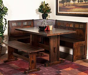This Charming Breakfast Nook From The Santa Fe Collection Is Made Of  Distressed Birch Wood Inlaid