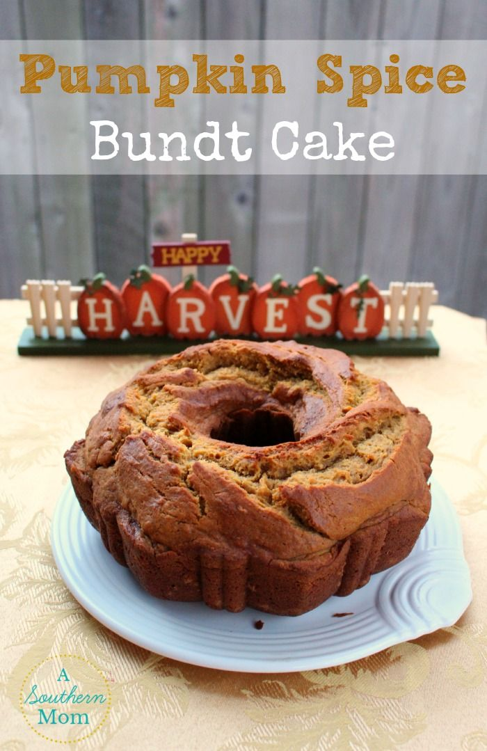 This delicious and moist pumkin spice bundt cake will be the talk of your next potluck! Bake this and your house will smell like FALL all day (even if it is still 90 degrees outside).