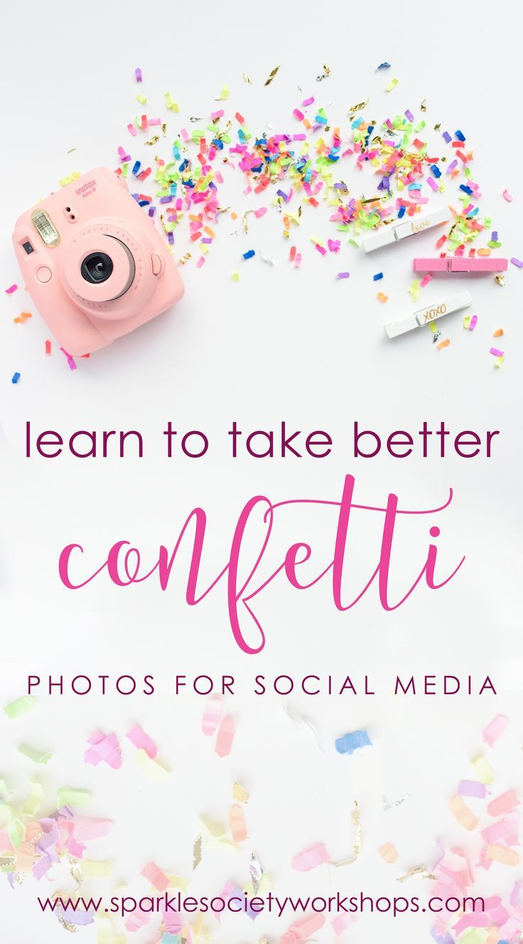 Learn to Take Better Confetti Photos for Social Media