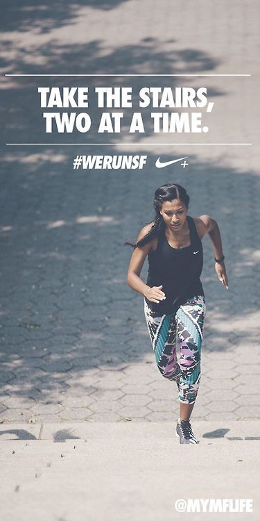 Take the stairs, two at a time! - Nike Women Fitness Motivation / Fitness Blog - Follow for more!