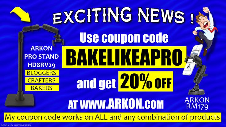 coupon code BAKELIKEAPRO for 20% off ALL products at www.arkon.com