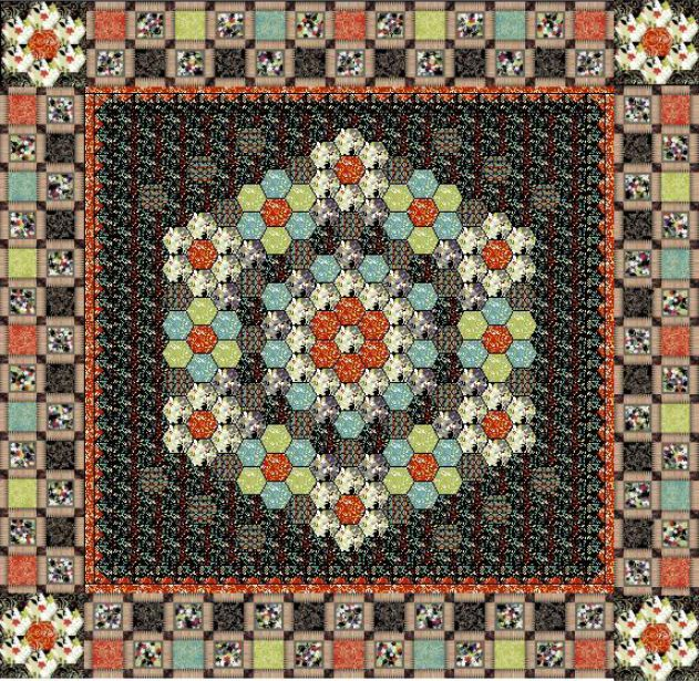 Hoffman Fabrics Free Quilt Patterns   Caliente Quilt by Katia ... : hoffman free quilt patterns - Adamdwight.com
