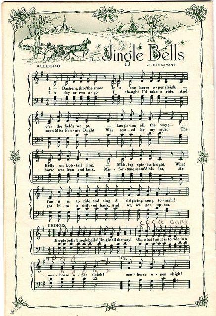 printable Christmas sheet music for crafting