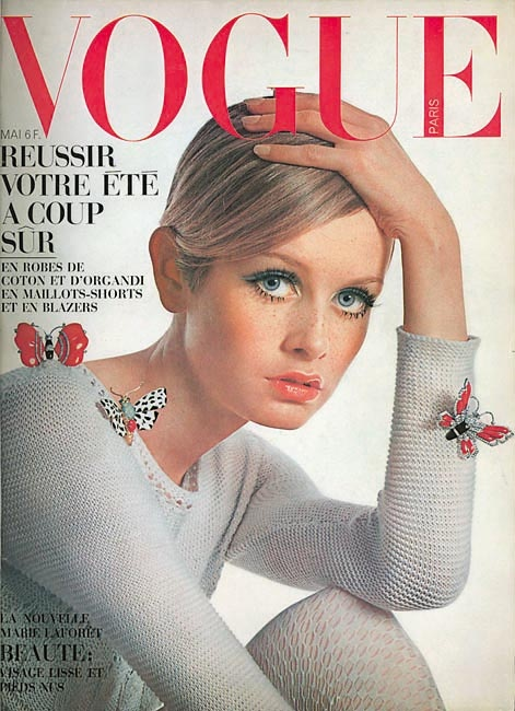 Vogue French Magazine Subscription: French Vogue Cover - May 1967 Twiggy