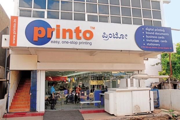 A file photo of a Printo store in Bengaluru. Retail was booming at the time Sharma set up Printo. Photo: Hemant Mishra/ Mint