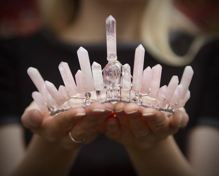 Rose Quartz Crown by Elemental Child