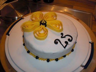 Torte mit Blume