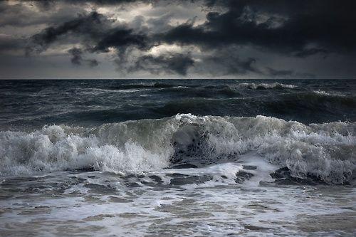Stormy coast.
