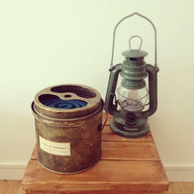 accoさんの、ランタン,リメイク蚊取り線香缶,玄関/入り口,のお部屋写真