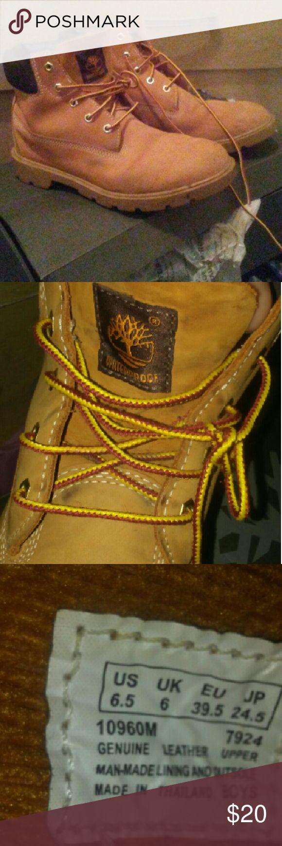 Timberland Boots Wheat Timberland size 6.5 Grade School Boy. Timberland Shoes