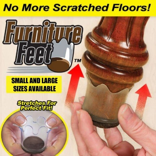 Furniture Feet are the flexible floor protectors for furniture