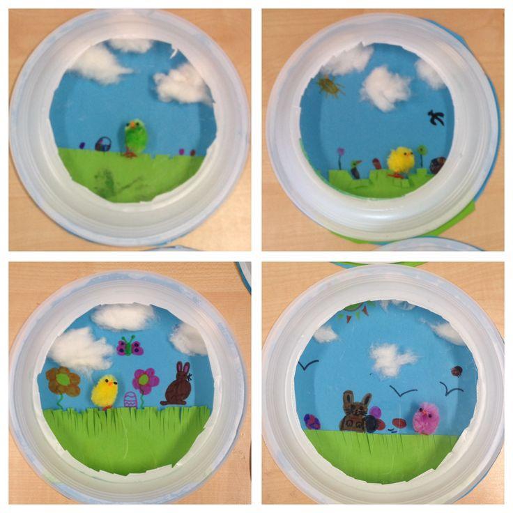 3D schilderijtje met klein kuikeontje, groep 5