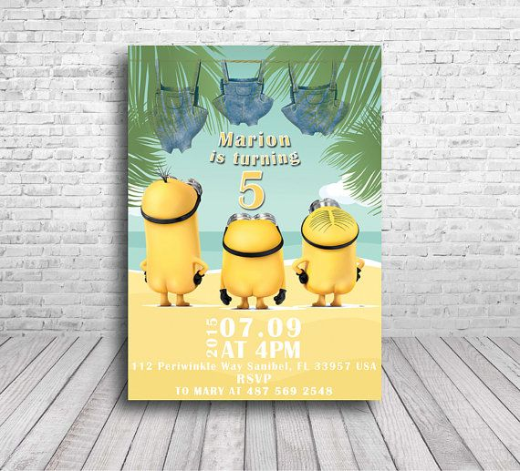115 best fiesta minions: invitaciones ⭐ minions party invitations, Birthday invitations
