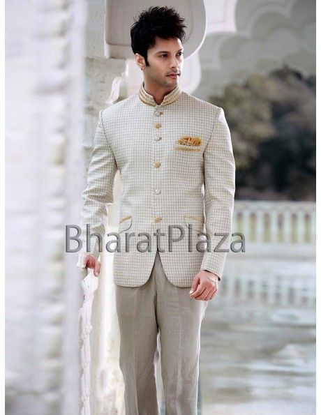 Spectacular Self Design Blazer. http://www.bharatplaza.com/mens-wear/mens-designer-suits.html