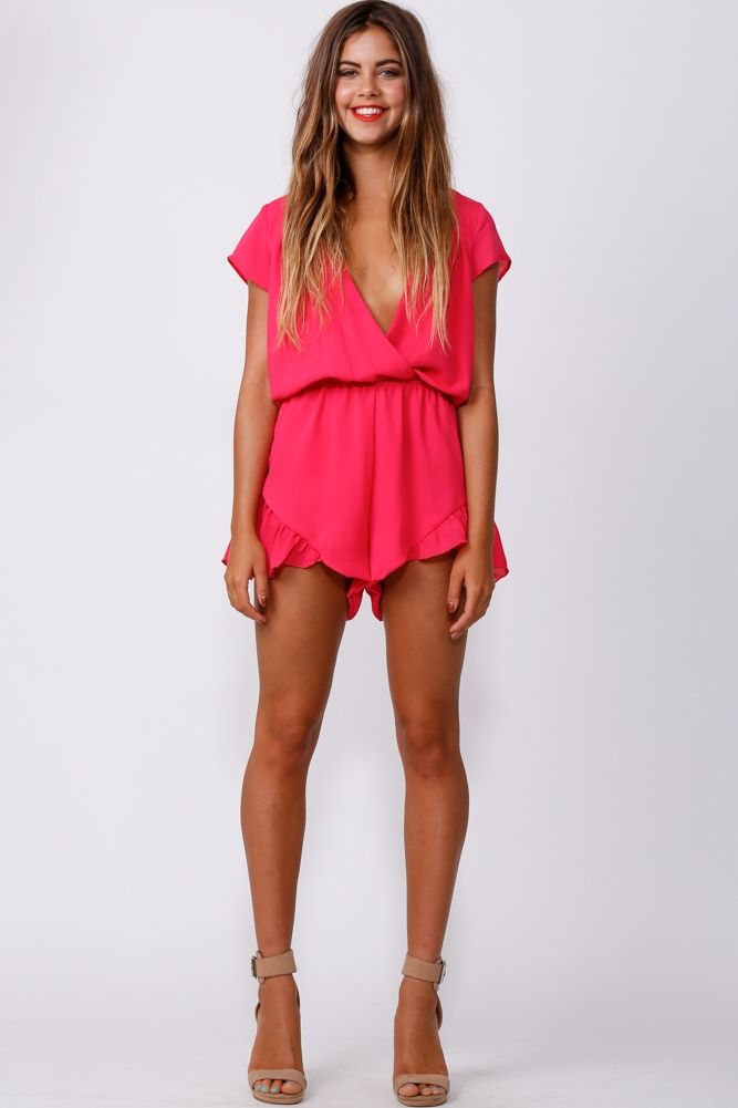 HelloMolly | Lucky One Playsuit Pink - Playsuit - Dresses